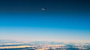 Hoch über den Wolken - gefühlt fast schon im Weltall